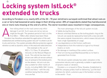 Locking System IstLock [R] extended to trucks – náhľad